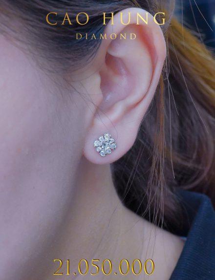 BÔNG TAI NỮ CAO HÙNG DIAMOND 001