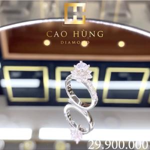 nhẫn kim cương cao hùng