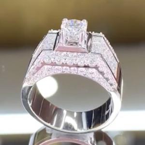 nhẫn kim cương nam cao hùng diamond 68tr