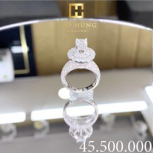 nhẫn kim cương nữ cao hùng diamond 45