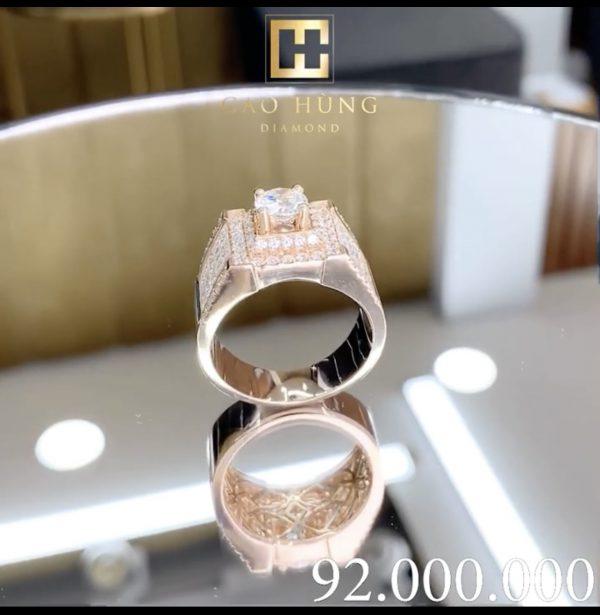 nhẫn kim cương nam cao hùng