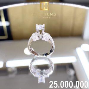 nhẫn kim cương xoàn 25