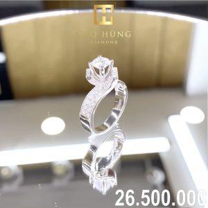 nhẫn kim cương xoàn 26,5