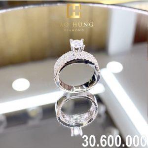 nhẫn kim cương xoàn 306
