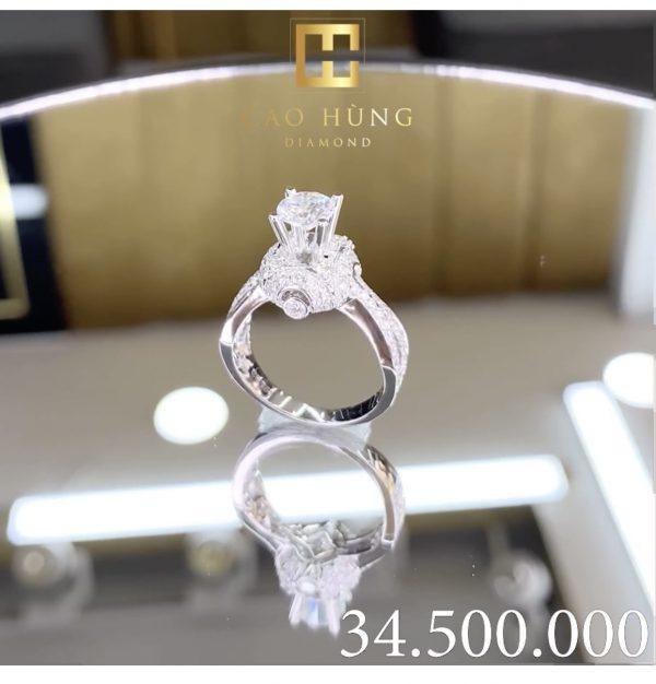 nhẫn kim cương xoàn 34,5