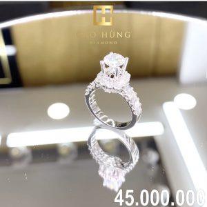 nhẫn kim cương xoàn 45