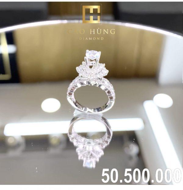 nhẫn kim cương xoàn 50,5