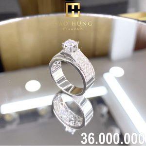 nhẫn kim cương xoàn36