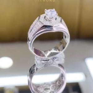 nhẫn kim cương nam 48tr