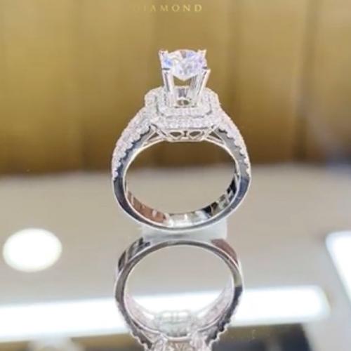 nhẫn kim cương nữ 27tr