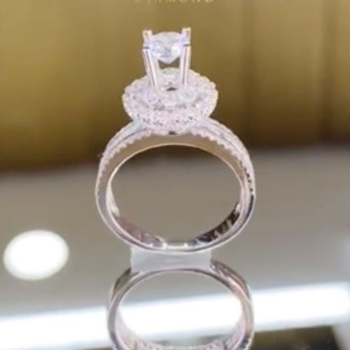 nhẫn kim cương nữ 52tr