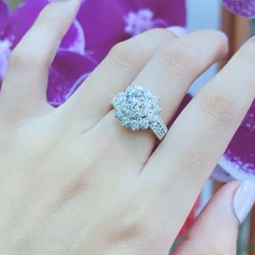 nhẫn kim cương nữ 54tr