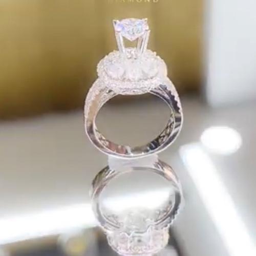 nhẫn kim cương nữ 58tr5